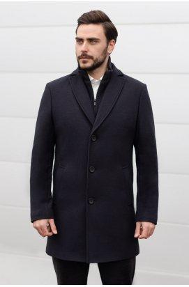 Пальто мужское зимнее K-043 (iClass) - Темно-синий