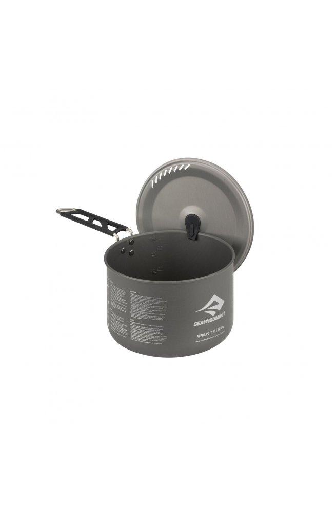 Кастрюля со складной крышкой в чехле Sea to Summit Alpha Pot with Stuff Sack,, р.1.9 L (STS APOTASSI1.9L)