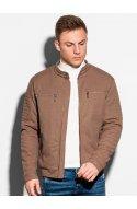Чоловіча куртка демісезонна стьобана C461 - коричневий - Ombre