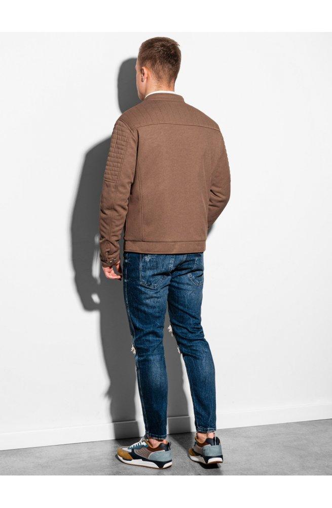 Мужская куртка демисезонная стеганая C461 - коричневый - Ombre