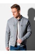 Чоловіча куртка демісезонна стьобана C461 - сірий - Ombre