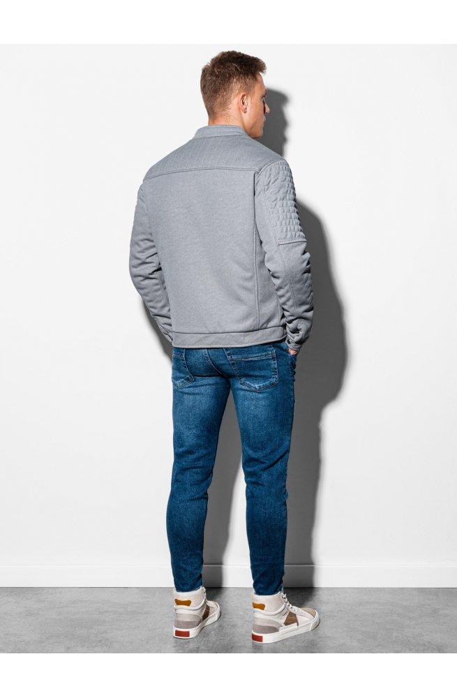 Мужская куртка демисезонная стеганая C461 - серый - Ombre