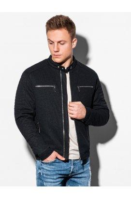 Мужская куртка демисезонная стеганая C461 - чёрный - Ombre