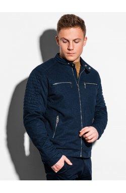 Мужская куртка демисезонная стеганая C461 - темно-синий - Ombre