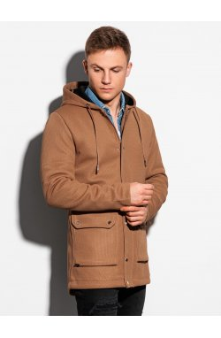 Осеннее пальто C454 - коричневый - Ombre