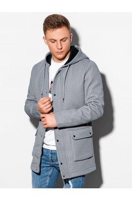 Осеннее пальто C454 - серый - Ombre
