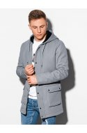 Осіннє пальто C454 - сірий - Ombre