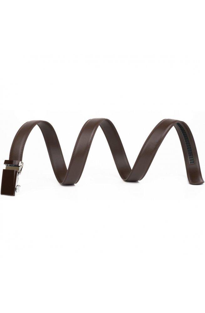 Ремень мужской c прямоугольной пряжкой Vintage 20311 Коричневый