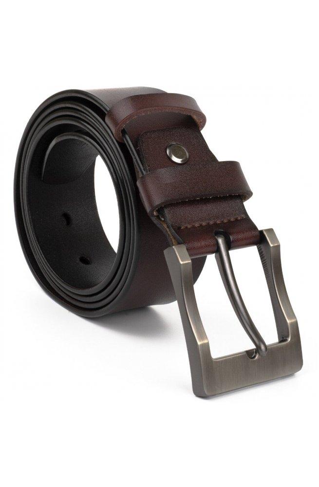 Ремень мужской с затемненной пряжкой механика Vintage 20317 Черный