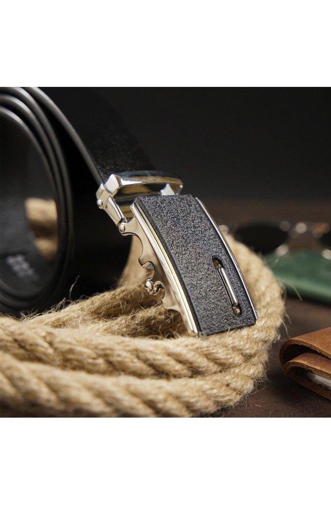 Ремень мужской с матовой пряжкой Vintage 20326 Черный