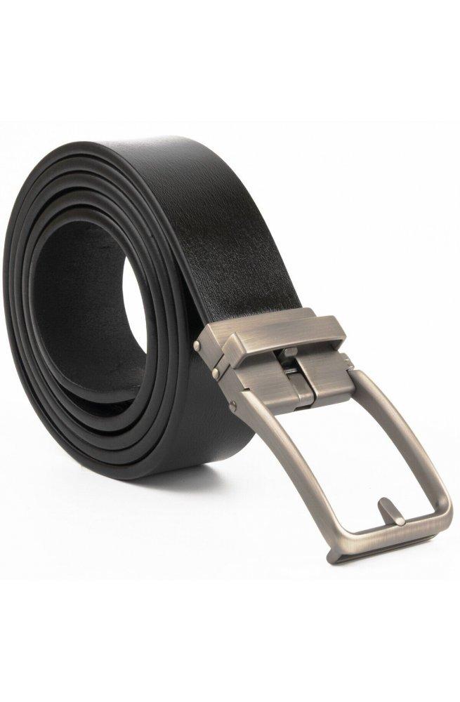 Ремень мужской со стильной пряжкой Vintage 20268 Черный