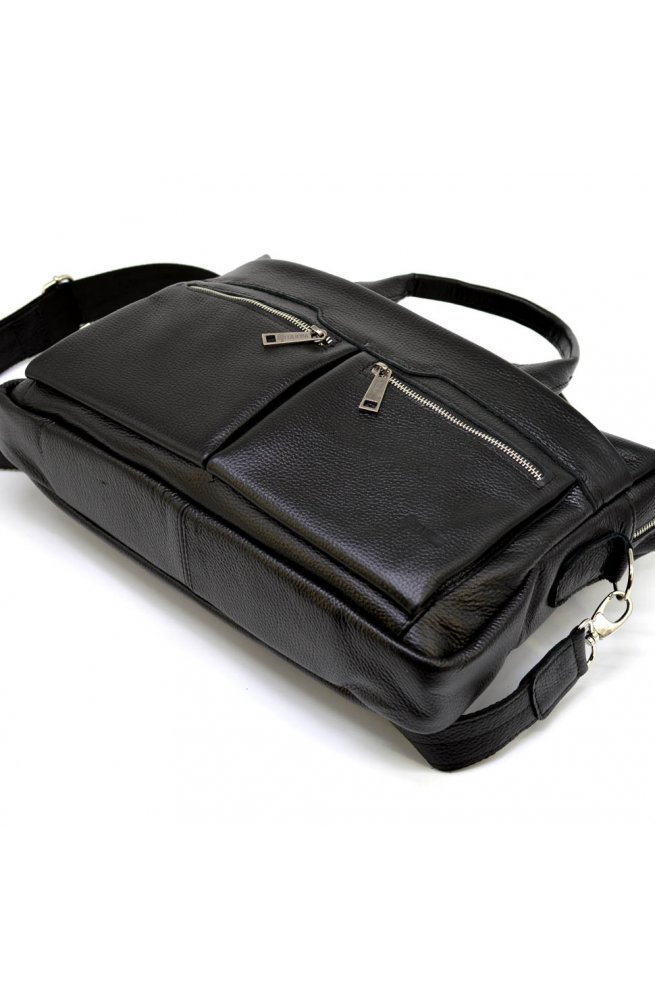 Сумка для ноутбука черная мужская мягкая TARWA FA-7122-4lx Черный