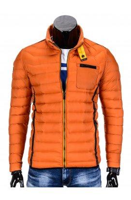 Куртка мужская демисезонная стеганая K292 - оранжевый