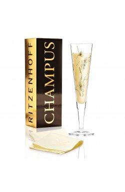 """Бокал для шампанского """"Ветряные цветы"""" от Марвина Бенцони, 205мл - wos8710"""