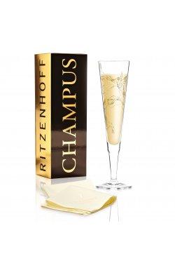 """Бокал для шампанского """"Колибри"""" от Марвина Бензони, 205 мл - wos8712"""