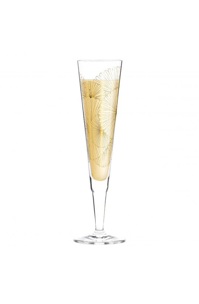 """Бокал для шампанского """"Golden Fans"""" от Lenka K?hnertov?, 205 мл - wos8716"""