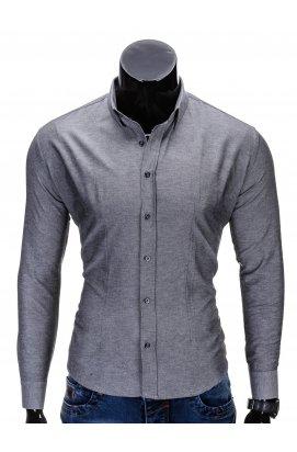 Рубашка мужская R219 - Темно- Серый