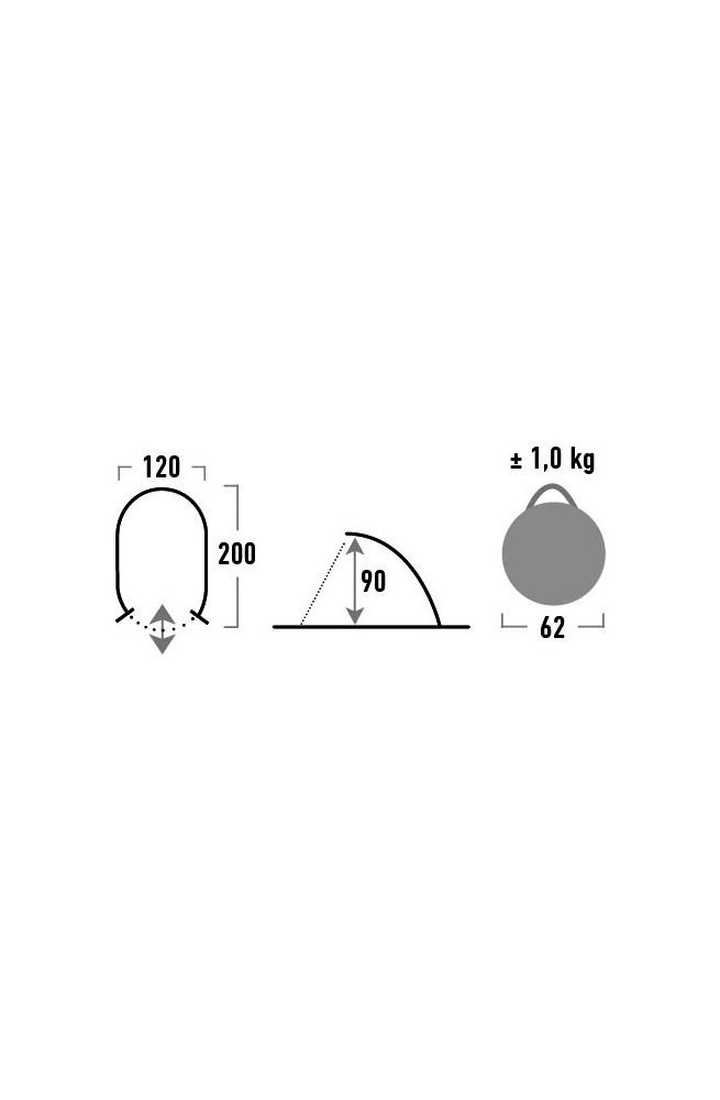 Палатка High Peak Calobra 80 (Aluminium/Dark Grey)
