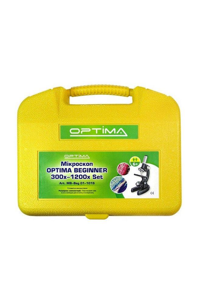 Микроскоп Optima Beginner 300x-1200x подарочный набор (MB-Beg 01-101S)
