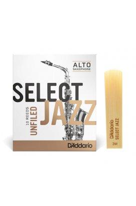 Трости для духовых D'ADDARIO Select Jazz - Alto Sax Unfiled 3M (1шт)