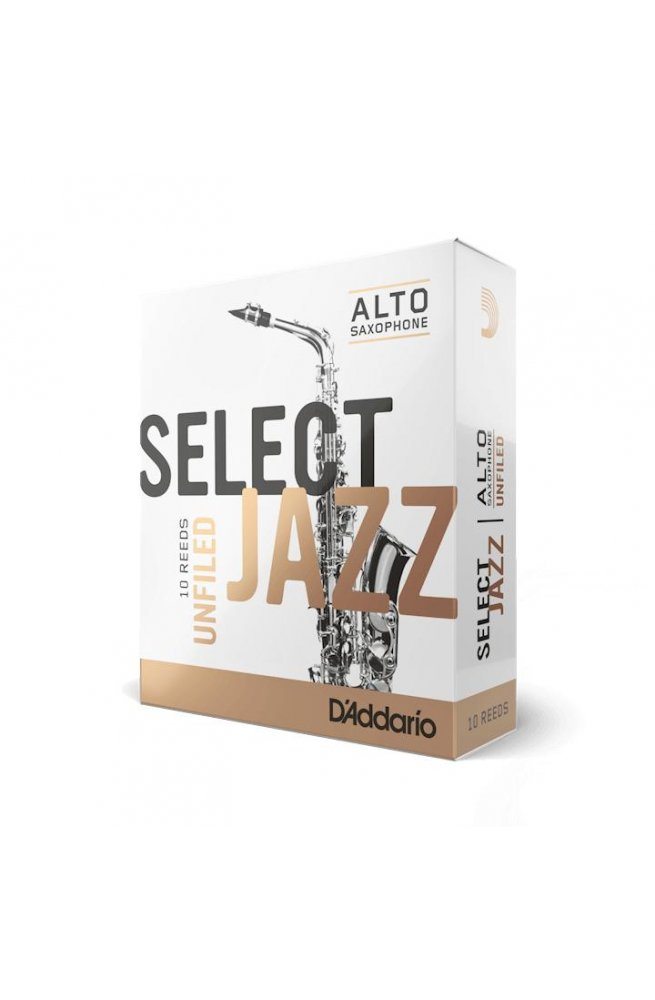 Трости для духовых D'ADDARIO Select Jazz - Alto Sax Unfiled 2M (1шт)