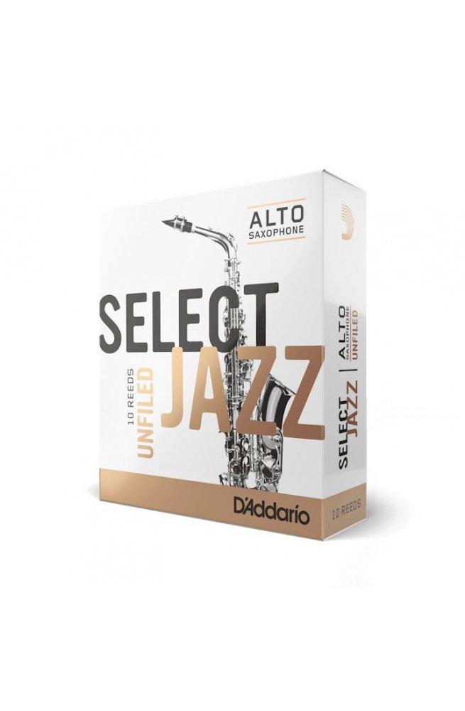 Трости для духовых D'ADDARIO Select Jazz - Alto Sax Unfiled 2H (1шт)