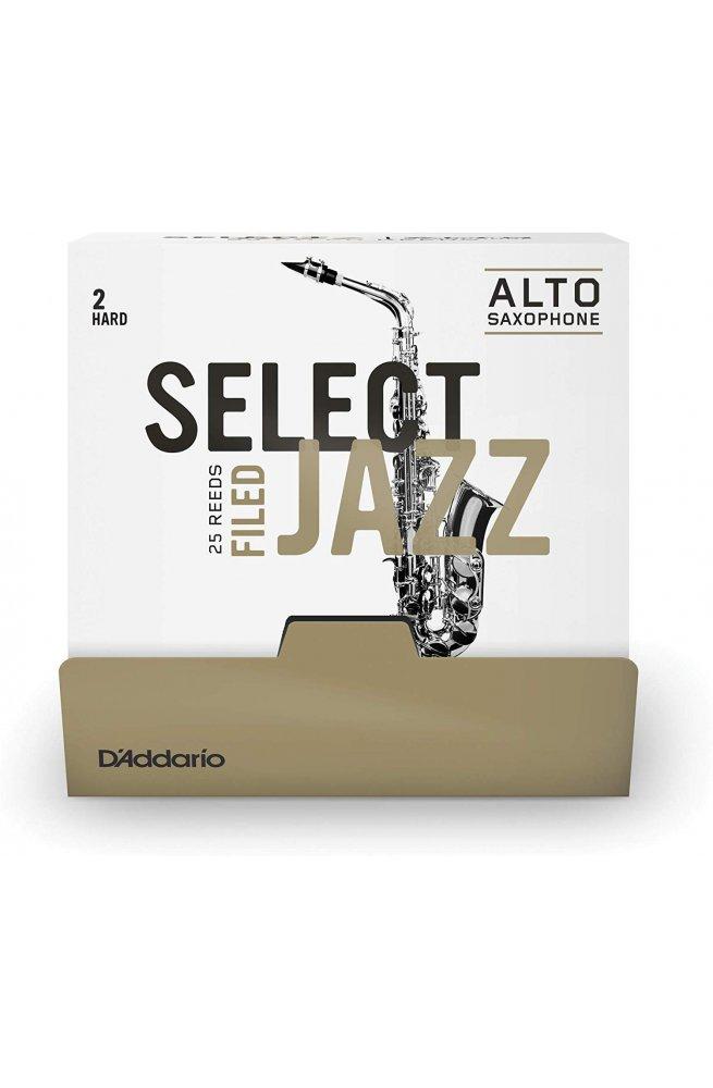 Трости для духовых D'ADDARIO Select Jazz - Alto Sax Filed 2H (1шт)