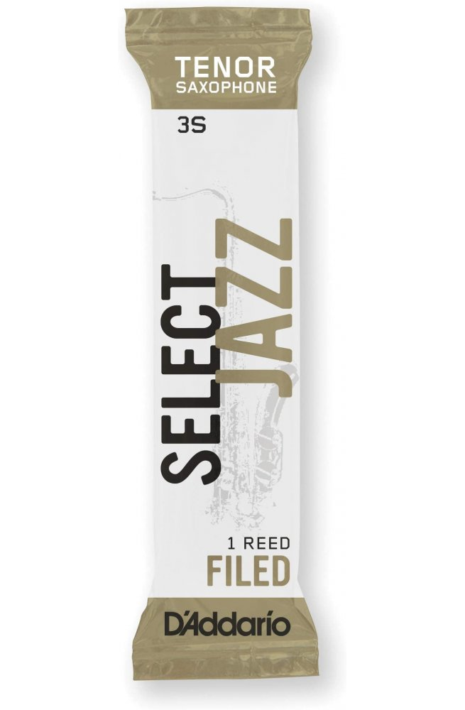 Трости для духовых D'ADDARIO Select Jazz - Tenor Sax Filed 3S (1шт)
