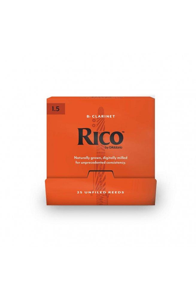Трости для духовых D'ADDARIO Rico - Bb Clarinet #1.5 (1шт)