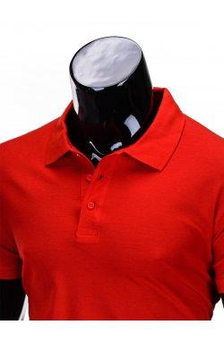 Футболка-поло мужская P715 - красный