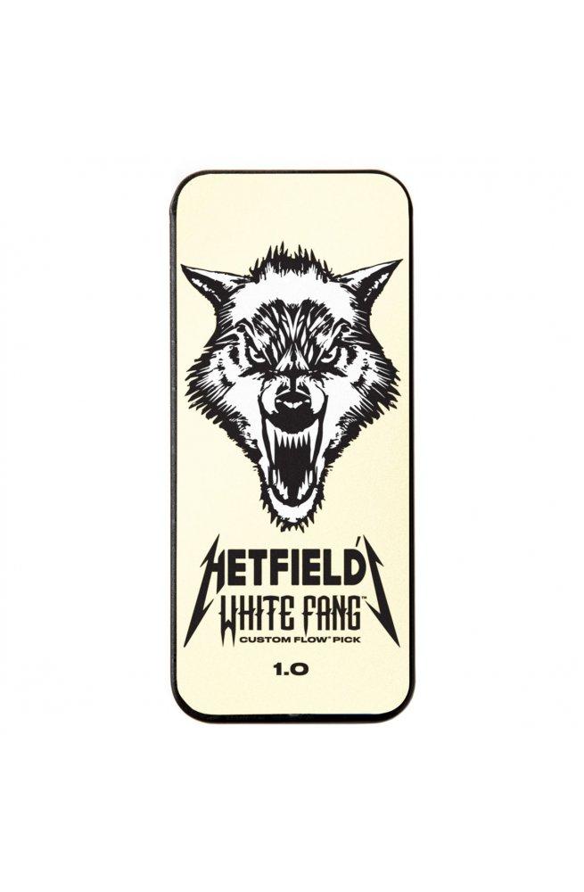 Медиаторы DUNLOP HETFIELD'S WHITE FANG CUSTOM FLOW PICK TIN 1.0MM