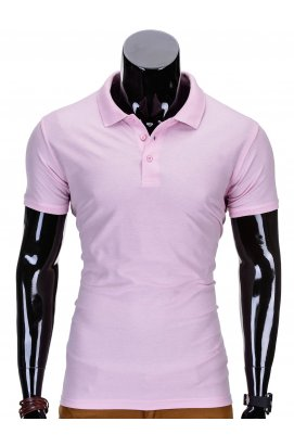 Футболка-поло мужская P715 - светло - розовый
