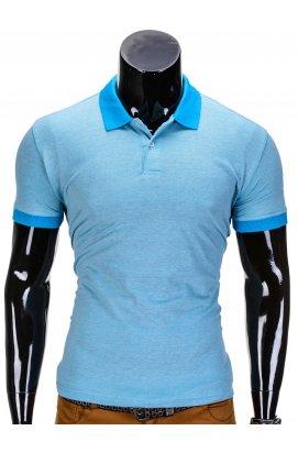 Футболка-поло мужская P847 - светло - голубой
