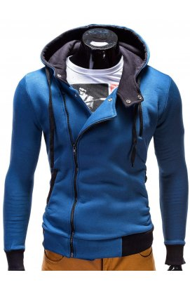 Толстовка мужская на молнии297 - голубой