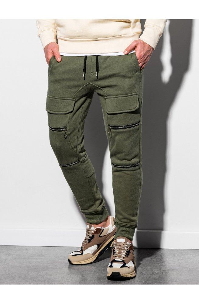 Мужские спортивные штаны P901 - хаки - Ombre