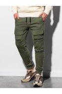 Чоловічі спортивні штани P901 - хакі - Ombre