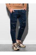 Чоловічі спортивні штани P901 - темно-синій - Ombre