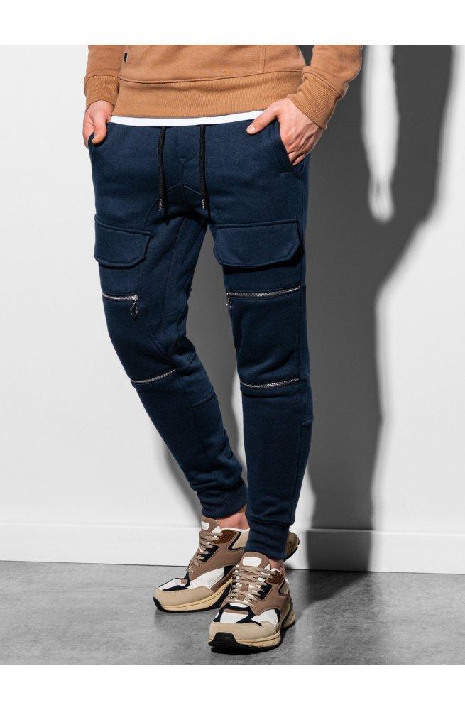 Мужские спортивные штаны P901 - темно-синий - Ombre