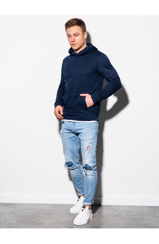 Толстовка мужская с капюшоном B1079 - темно-синий - Ombre