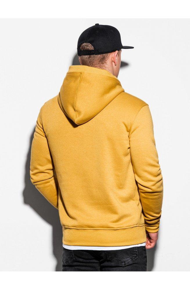 Толстовка мужская с капюшоном B1079 - жёлтый - Ombre