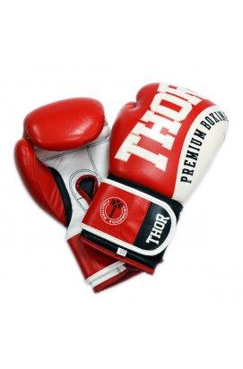 Перчатки боксерские THOR SHARK 10oz /Кожа /красные