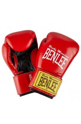 Перчатки боксерские Benlee FIGHTER 12oz /Кожа /красно-черные