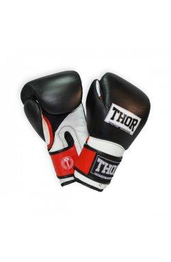 Перчатки боксерские THOR PRO KING 16oz /Кожа /черно-красно-белые