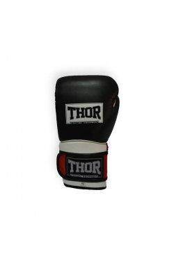 Перчатки боксерские THOR PRO KING 16oz /PU /черно-красно-белые