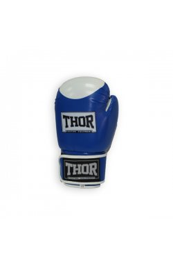 Перчатки боксерские THOR COMPETITION 14oz /Кожа /сине-белые