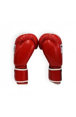 Перчатки боксерские THOR COMPETITION 12oz /PU /красно-белые
