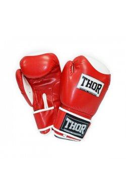Перчатки боксерские THOR COMPETITION 12oz /Кожа /красно-белые