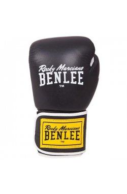 Перчатки боксерские Benlee TOUGH 12oz /Кожа /черные