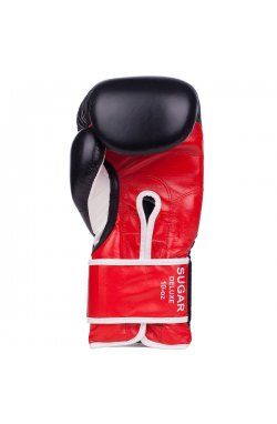 Перчатки боксерские Benlee SUGAR DELUXE 12oz /Кожа /черно-красные