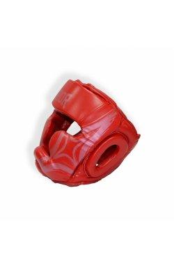 Шлем для бокса THOR COBRA 727 XL /Кожа / красный